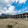 旧大野木場小学校 被災校舎。雲仙普賢岳の大火砕流で焼失した学び舎。長崎県南島原市