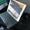 たまたま購入したiPadAir2用のキーボード付きカバーはキー入力時の音が静かだった。