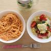 塩麹檸檬カッペリーニとトマトカルボナーラ、win10vsMacデータの事