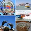 2018/19 USA 家族旅行 14 サンフランシスコ・ベイ名物 ロブスターロール&クラムチャウダーを桟橋のベンチで食らう ^^!