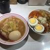 蒙古タンメン中本@目黒の半味噌タンメンと半蒙古丼