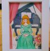 ピアノ 女の子の肖像 水彩イラスト