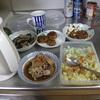 幸運な病のレシピ( 647)夜:パテから作ったハンバーグ、ポテトサラダ、ナスと紫蘇の豚バラ炒め