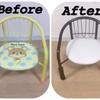 子供椅子の定番!豆椅子をお家に合うようにアレンジしてみたよ!