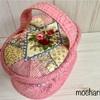 クレイジーキルトの小さなバニティポーチ ①・可愛いピンク