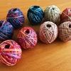段染め糸の色のグラデーションに魅せられて