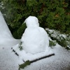 【一日一枚写真】手すりの雪だるま【一眼レフ】