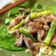 アスパラ砂肝の黒酢塩麹ナムル(糖質3.7g)は、甘みと辛みと食感の妙だよ!