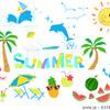 海やリゾート・夏向け素材のセット