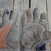 防振手袋を補修 週末までに Repairing the anti-vibration gloves