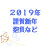 謹賀新年2019年!!今年の抱負など軽く語りたいと思います!!