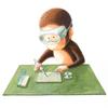 アクリル絵具「もっきん もんきち〜保護眼鏡着用のこと」