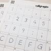 Calligraphr(Paintfont.com)で手書きの英数字フォントを作った