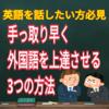 【海外】1秒でも早く外国語を上達させる方法【留学】