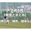 【概要とまとめ】全国大学ラグビーフットボール選手権大会