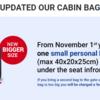 Ryanairの手荷物ルールが変わります