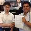 ペルー留学生会と提携覚書(Partnership Memorandum of Understanding)を交換しました!Signing of the Memorandum of Understanding between ZESDA and APEJA on the future collaboration.