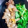 ひな祭りに安い肉でステーキ。