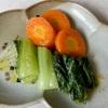 βカロテンは油と一緒に!にんじんとチンゲン菜のオリーブオイル蒸し 低フォドマップ