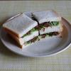 27冊目『プレミアムな和サンド』から5回めは牛しぐれ煮+せりのサンドイッチ