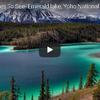 湖と森と山 カナダのヨーホー国立公園の旅