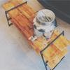 キャンプ用アイアンラックの棚板をDIY[ワンバイ材][ビンテージ加工]