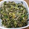 """七草粥の七草のうちの一つ""""スズシロ=大根の葉""""の我が家の調理方法を紹介します!!"""
