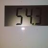昨日と今朝の体重