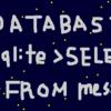 今更ながらSQL文ってなんのことだかわかりました。