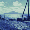 礼文島の昆布と利尻富士。