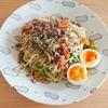 【晩御飯】挽き肉とたっぷり野菜の塩焼きそば【レシピ】