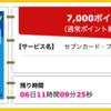 【ハピタス】セブンカード・プラスが期間限定7,000pt(7,000円)! さらに最大6,100nanacoポイントプレゼントも! 年会費無料! ショッピング条件なし!