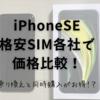 iPhoneSEを買うなら格安SIMに乗り換えと同時がお得!