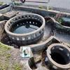 上田池幹線水路円筒分水群(兵庫県南あわじ)