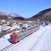 雪景色の中のしなの鉄道を撮影して来ました  その1