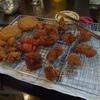 幸運な病のレシピ( 1664 )昼:玉ねぎフライ、鶏モモのカツ(大抵は唐揚げ)、フライパンでの焼きサンド(玉ねぎカツ)
