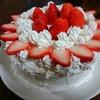 今日は奥様の誕生日、とりあえずお誕生日ケーキは完成(^_-)-☆