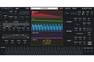 パワフルなモジュレーション&エフェクトによる音作りが簡単に行えるソフト・シンセKROTOS Concept 2