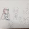 透明水彩でかわいいイラストを描きたい(練習中です)