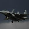 【写真複製・写真修復の専門店】F-15戦闘機の画像を青空に