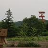 夕張市 石炭博物館の庭先から