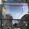 ≪スクリーン爆音対策④≫スクリーンの端にテープを貼ってみた。屋根付き自転車コロポックル使用記。