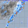 温帯低気圧化しつつある台風21号から伸びる寒冷前線