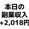 【本日の副業収入+2,018円】(20/2/29(土)) 楽天ポイントのキャンペーンで約2,000円ゲット!