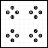 自作パズル003【四角に切れ】