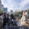 可愛い孫の晴れ姿を見に結婚式へ