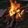 焚き火をした