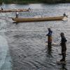 〈新美貴資の「めぐる。(64)」〉伝統漁法で落ちアユを捕る 岐阜県・長良川のやなと瀬張網漁