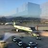 台北松山空港の展望デッキに行くと自然とワクワクします