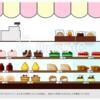 デフォルメちっくなケーキ屋のイラスト 素材!
